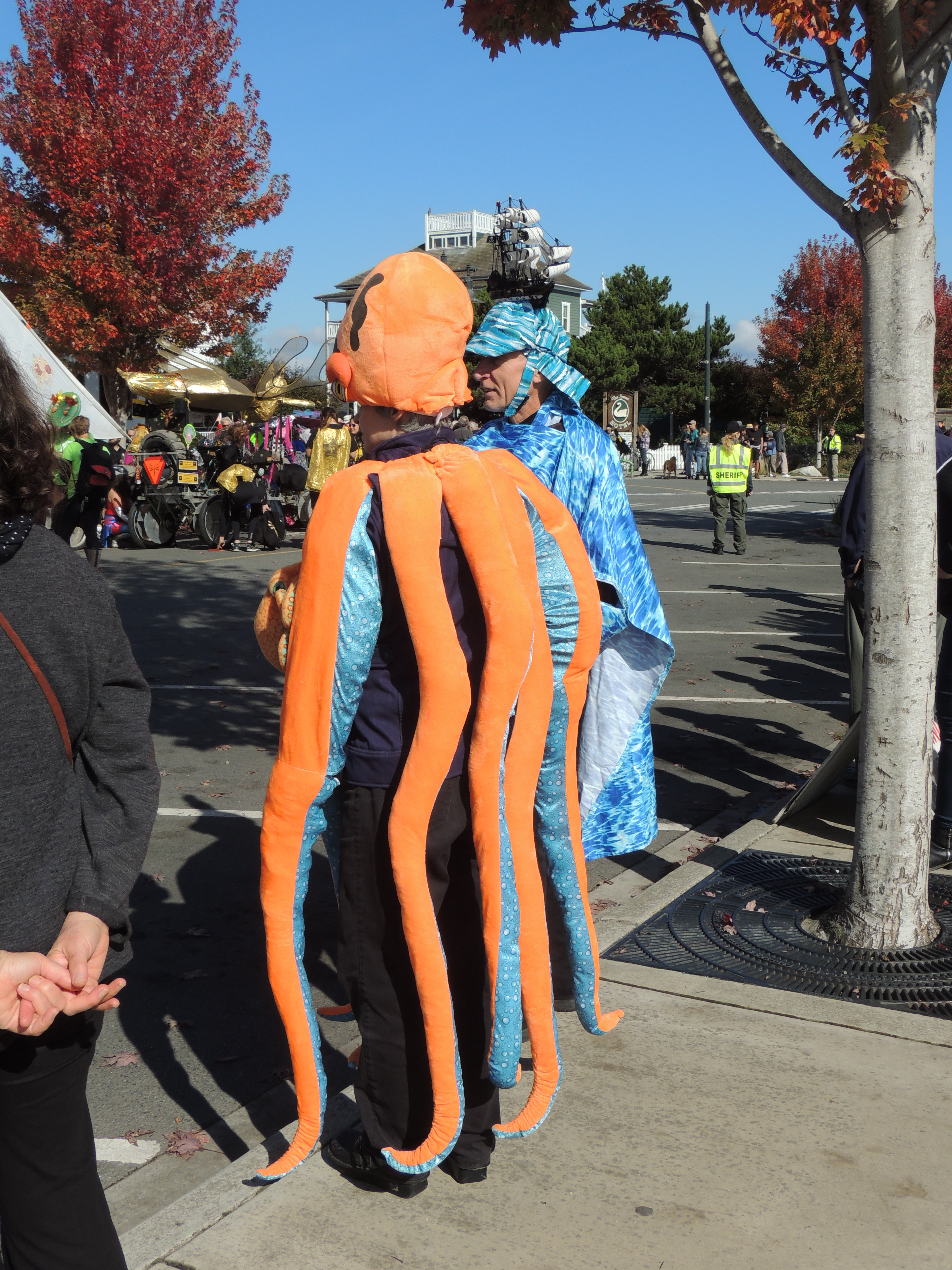 person dressed as octopus
