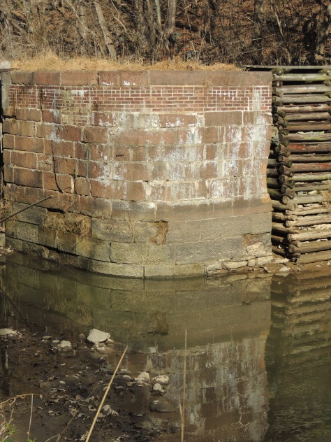 brick work at a lock on the C & O Canal